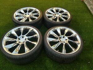 21 Lorinser Rs8 Wheels Rims Tires 5x112 Mercedes Audi Bmw Staggered Chrome