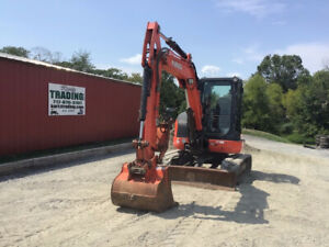 2015 Kubota U55 4 Hydraulic Mini Excavator W Cab Thumb Very Clean 2200hrs