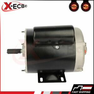 1 Hp Air Compressor Electric Motor 56 Frame 3485 Rpm Single Phase New