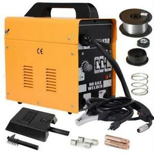 Mig 130 Welder Flux Core Wire Automatic Feed Welding Machine Free Mask 110v