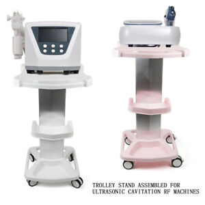 Us Healthcare Trolley Stand Medical Rolling Cart Beauty Shelf Assembled W Wheel
