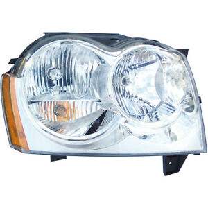 For Jeep Grand Cherokee 2005 2006 2007 Right Side Headlight Assembly Dac