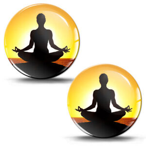 3d Silicone Gel Stickers Decals Yoga Meditation Lotus Pose Buddhist Logo Emblem