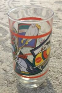 Coca Cola Drinking Glass Cup - Polar Bear Playing Winter Sports 1995 Vintage