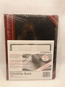 Boorum Pease Bound Columnar Book 6 Column 211506 150 Pages Black Red New Jl23