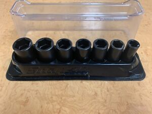 Snap On Impact 3 8 6pt Socket Set 7pc Med Deep Flank Drive 10 18mm