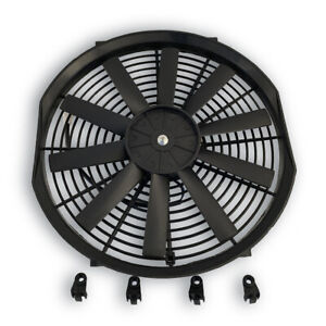 Universal 14 Electrical Radiator Performance Cooling Fan 10 Blades Mounting Kit