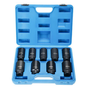 9pc Axle Nut Deep Impact Socket Set 1 2 Drive Heavy Duty Removal Tool 29 38mm