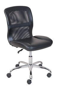 Mainstays Vinyl And Mesh Task Office Chair Black