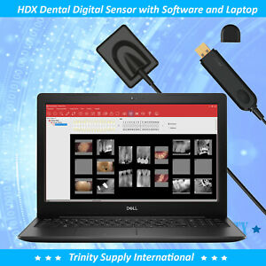 All In One Digital Dental X ray Sensor Size 1 5 With Laptop Software Installed