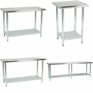 Stainless Steel Prep Work Table Cooking Restaurant Kitchen Heavy Duty Undershelf
