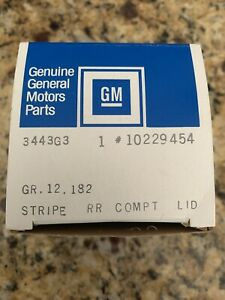 Nos Gm 1993 Camaro Indy 500 Pace Car Set Of Stripes 93 Z28 Decals Oe