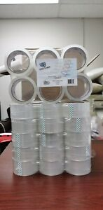 36 Rolls Clear Carton Sealing Packing Tape Box Shipping 2 Mil 2 X 55 Yards