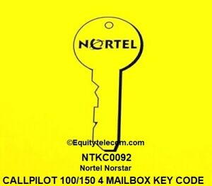 Nortel Norstar Call Pilot 100 Or 150 4 seat Voice Mail Box Keycode Ntkc0092