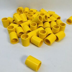Lot Of 50 Yellow Colored Pvc External Coupling