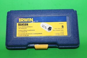Irwin Industrial 3094101 Fractional Fine Nf Deep Well Thread Chaser Set 5pc Usa