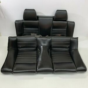 2010 2014 Oem Ford Mustang Convertible Gt Rear Black Leather Back Seats S7096