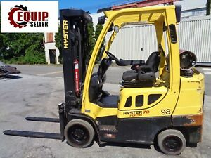 2015 Hyster S70ft 7000 Lbs Boom Truck Forklift Triple Mast Propane