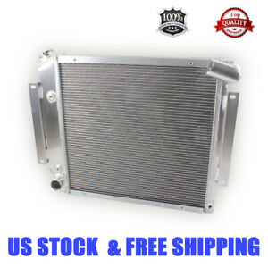 For 1962 1967 Chevrolet Nova Chevy Ii V8 62 63 64 65 66 3 rows Aluminum Radiator