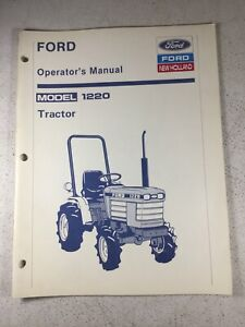 Ford New Holland 1220 Tractor Operators Manual