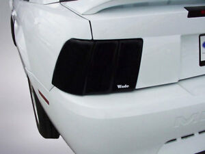 2 piece Smoke Tail Light Covers For 1999 2004 Ford Mustang
