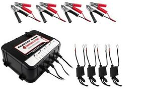 Float Charger Tender For Auto Marine Battery 4 Bay 6 12v 2a