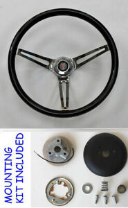 67 68 Grand Prix Gto Firebird Le Mans Black Wood Polished Steering Wheel 15