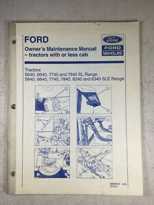 Ford New Holland 5640 6640 7740 7840 8240 8340 Maintenance Manual 50 Pages