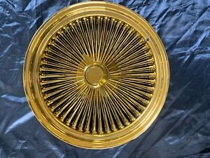20 Knock Off Wire Wheels Powdercoated Gold