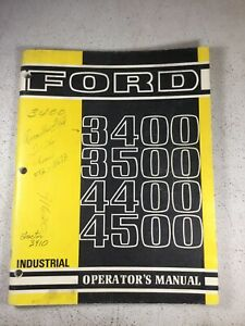Ford 3400 3500 4400 4500 Tractor Operators Manual