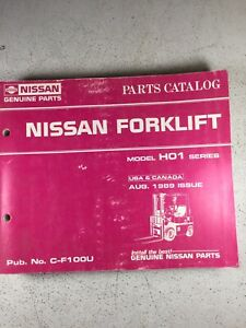 Nissan Ho1 Series Forklift Parts Manual See Pics For Models