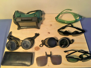 Vintage Welding Goggles And Glasses Fibre Metal Welsh Mfg