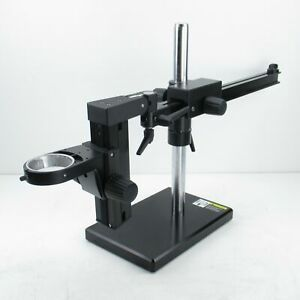 Leica Boom Stand W Focus Drive Carrier For M Series Stereo Microscopes 76mm