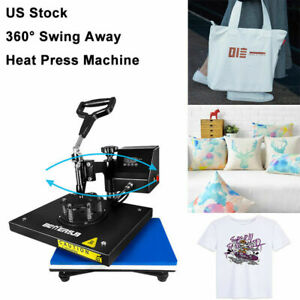 9 x12 swing Awaydigita L Heat Press Machine Transfer Printing Diy T shirt Mat Us