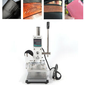 New Digital Manual Hot Foil Stamping Machine Embossing Pvc Logo Stamper Bronzing