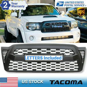 Front Grille Bumper Grill For 2005 2011 Toyota Tacoma Mesh Grill With Letters