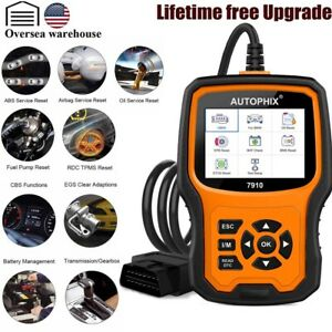 Full System Obd2 Scanner Oil Epb Sas Airbag Tpms Diagnostic Reset Tool For Bmw