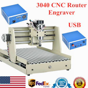 Usb 400w 3 Axis Cnc3040 Router Engraver Engraving Machine 3d Milling Cutter Top