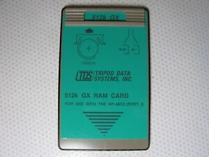 Tds 512k Gx Ram Card For Use With The Hp 48gx Late Version