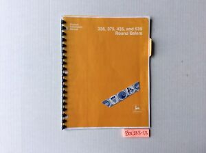 John Deere 335 375 435 And 535 Round Balers Product Information Manual