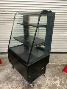 33 Curved Glass Bakery Dry Display Case On Wheels Structural Concepts 4699