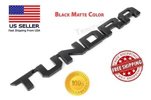 For Toyota Tundra Emblems 3d Origianl Door Badge For Sr5 Nameplate Black 07 19