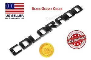 Glossy Black Colorado Fit Chevy Tailgate Emblem Chevrolet Nameplate Badge