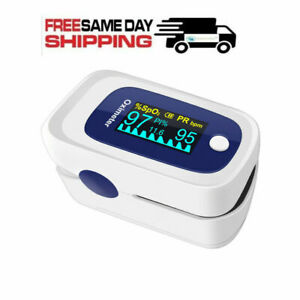 Finger Pulse Oximeter Blood Oxygen Spo2 Monitor Pr Pi Respiratory Rate fast Ship