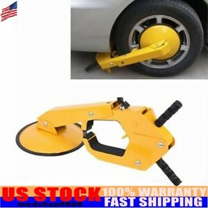 Us Wheel Tire Lock Clamp Parking Boot Anti Theft Tool For Trailer Car Suv Atv Rv