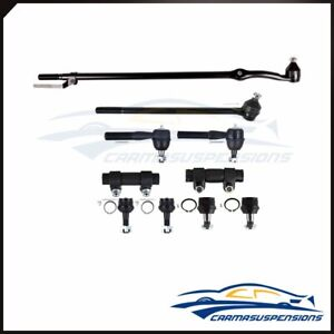 Fit For1987 1996 Ford Bronco Steering 10pcs Kit Ball Joints Tie Rod Ends Kit