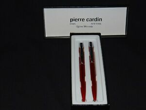 Pierre Cardin Ballpoint Pen And Mechanical Pencil Stylus Tipped Pen Red Color