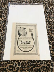 COCA COLA Ad Advertisement 1911 ON BOTH SIDES OF The COUNTER ARROW (c622
