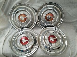 1951 Pontiac Chief Emblem Wheel Covers Hubcaps Set Of 4
