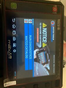 Matco Tools Maxme Automotive Diagnostic Scanner Touchscreen Tablet And Matco
